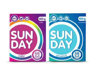 Порошок пральний Sun Day автомат Color/Universal, 400 г