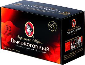 Чай Нурі Високогірний чорний 50пак
