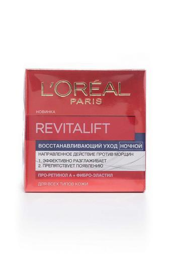Крем для лица L'Oreal Paris Ревиталифт Нуит ночной от морщин Упругость с биовиталом, 50мл