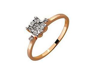 Золотое кольцо с бриллиантами Артикул 01-17479271