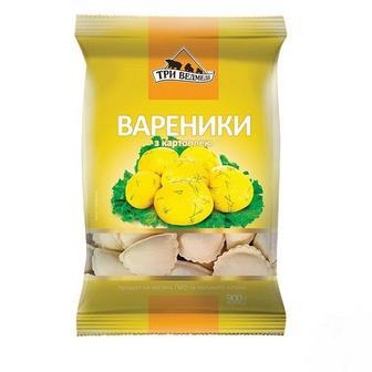 ВАРЕНИКИ з картоплею, 800 г ТРИ ВЕДМЕДІ