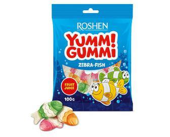 Цукерки Roshen Yummi Gummi Zebra-Fish желейні, 100г