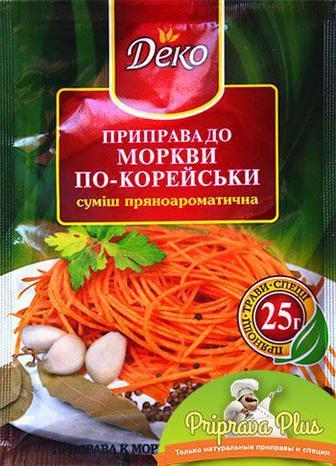 Приправа к моркови по-корейски Деко 25 г