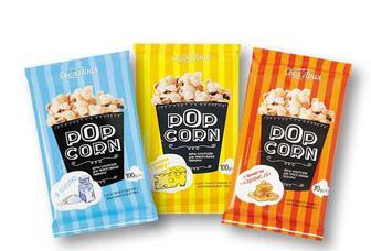 Попкорн для мікрохвильової печі з сіллю/ з аpоматом сиру/з аpоматом каpамeлi Своя Лінія 100г/90г
