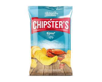Скидка 43% ▷ Чіпси Flint Chipster's натуральні зі смаком краба, 130г