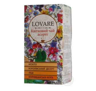 Чай зелений/квітковий/чорний Lovare Асорті 24 пак