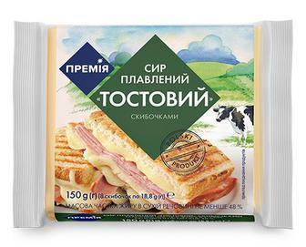 Сир плавлений «Премія»® «Тостовий» скибочками, 150г