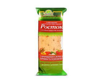 Хлібці хрусткі «УкрЕкоХліб» «Росток» з пророщених зерен пшениці з солодким перцем та зеленню, 120г