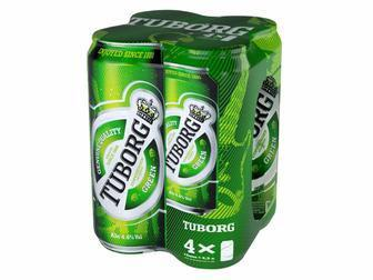 Пиво Tuborg Green 4х0.5л