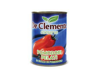 Томати De Clemente, очищені в томатному соку цілі, 400г