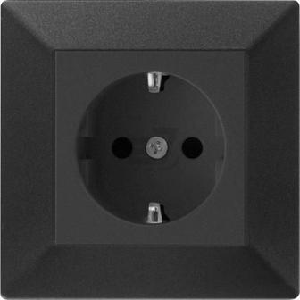 Накладка на механізм розетки HausMark Alta чорний SNG-SCP.SQ20MG1WG-BK