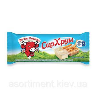Сир плавлений Сир Хрум з хлібними паличками Весела Корівка 35г