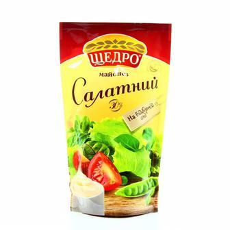 Майонезний соус Салатний 30% Щедро 190 г