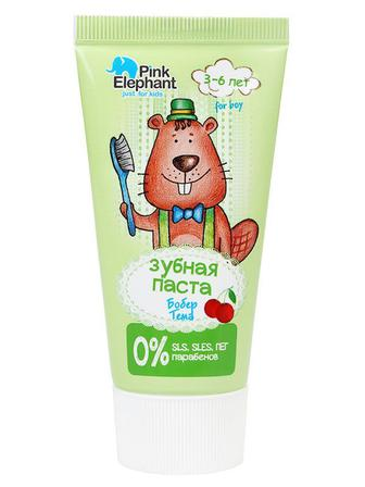 Зубная паста Бобер Тема Pink Elephant