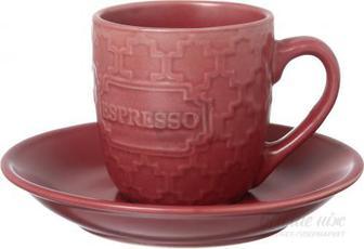 Чашка з блюдцем Strong Espresso 105 мл червона