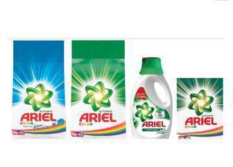Порошок для автоматичного прання  1,5 кг/ 4,5 кг, Гель для прання 1,95л Капсули для прання 13 шт Ariel