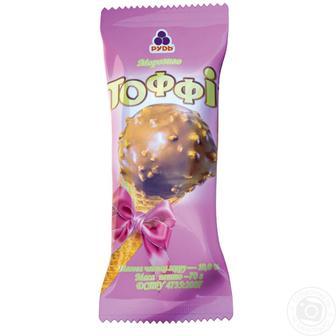 Мороженое Тоффи рожок    Рудь  70 г