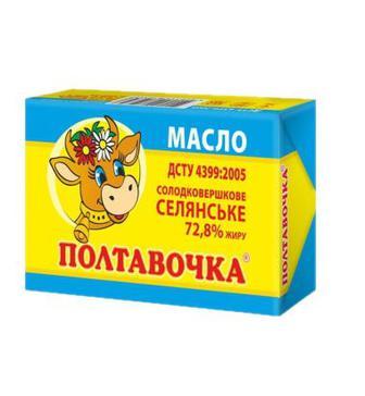 Масло Полтавочка Селянське 72,8% 200г