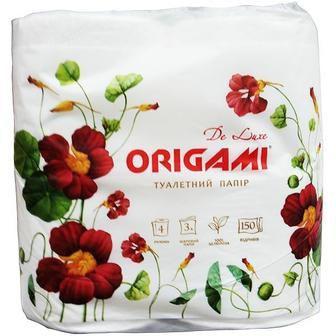 Папір туалетний 3шаровий 4шт уп Рушник паперовий 2 шт Origami