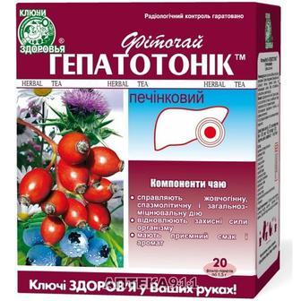 Фиточай Ключи здоровья Гепатоник печеночный в фильтр-пакетах по 1,5г 20 шт