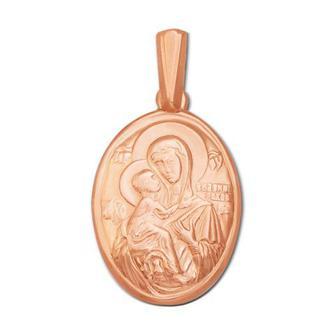 Золотая подвеска-икона Божией Матери «Владимирская»
