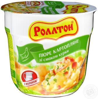 Пюре картопляне зі смаком курки, вершків, мяса і з цибулею Роллтон 37 г