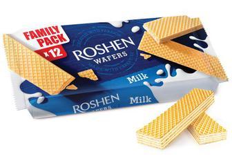Вафлі Roshen Wafers молоко Рошен 216г