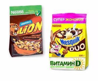 Сухі сніданки Lion 250г, Nesqik 225г, Cini-Minis 250г