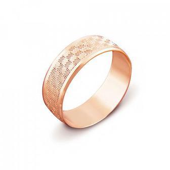 Обручальное кольцо с алмазной гранью. Артикул 1070/12