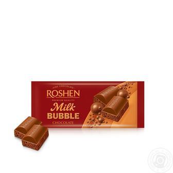 Шоколад пористий, білий карамельний, білий, молочний Рошен 85г