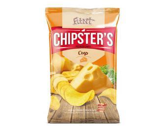Чипси Flint Chipster's картопляні зі смаком сиру, 130г