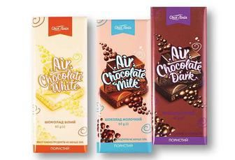 Шоколад білий/ молочний/ чорний, пористий Своя Лінія 65 г