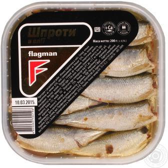 Шпроти в олії Flagman 200 г