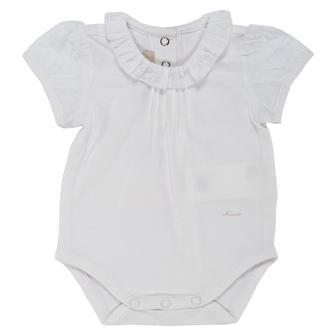 Белое боди I am baby с короткими рукавами