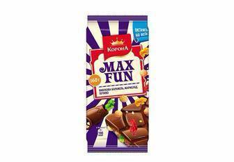 Шоколад Max Fun молочний з додатками Корона 160 г