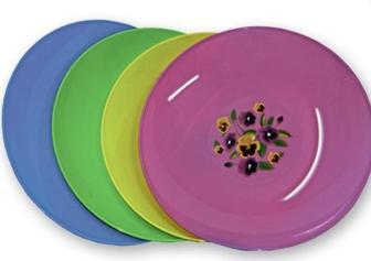 Блюдо кругле, пластик, d=33 см