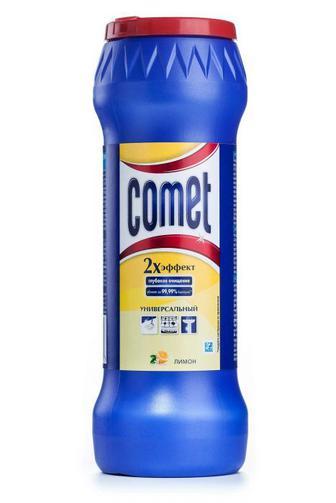 Чистящий Порошок Comet с дезинфицирующими свойствами Лимон с хлоринолом , 475г