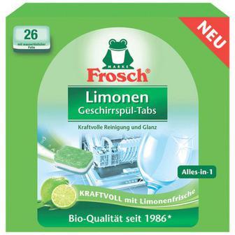 Таблетки Frosch для посудомийних машин Лимон 26шт*20г
