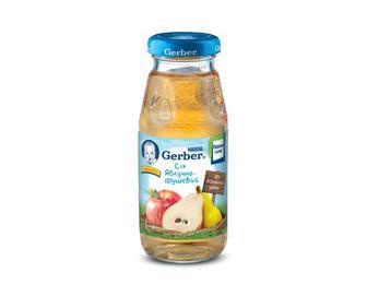 Сік Gerber, з вітаміном С, без додавання цукру яблучно-грушевий, 175 мл