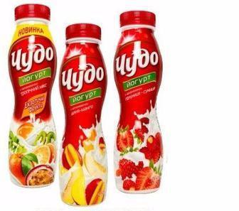 Йогурт питний, 2,5%, Чудо, 270 г