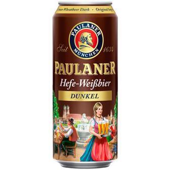 Скидка 51% ▷ Пиво Paulaner Hefe-Weissbier dunkel 0,5л