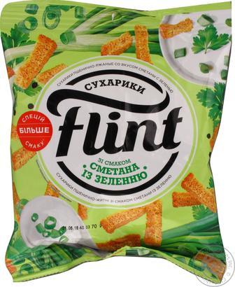 Сухарики Флинт со вкусом сметаны с зеленью 70г