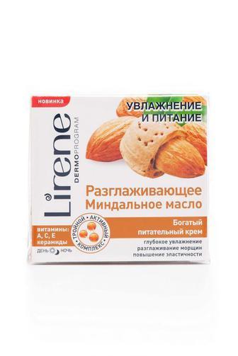 Крем для лица Lirene Увлажнение и питание Масло Миндаля питательный, 50мл