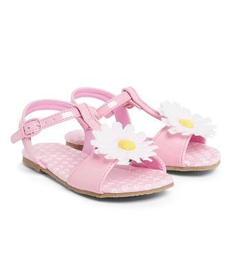 Скидка 50% ▷ Рожеві сандалі з квіткою від Mothercare