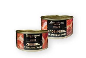 Консерви Яловичина/Свинина, у власному соку Здорово 325 г