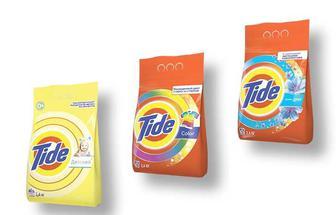 Засіб миючий синтетичний порошковий синтетичний порошковий Touch of Lenor/Color/Дитячий, для всіх типів пральних машин, Tіde 2,4 кг
