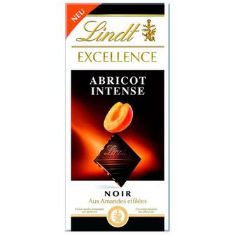 Шоколад Lindt темний з абрикосом та мигдалем 100г
