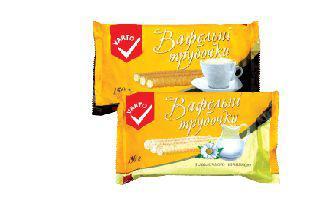 Трубочки вафельні З молочною начинкою, з ароматом кави Варто, 150 г