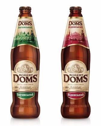 Пиво Роберт Домс Мюнхенський або Golden Ale Львівське 0,5 л