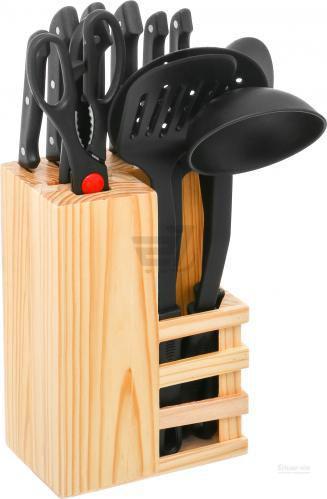 Набір ножів у колоді з кухонним приладдям 13 предметів Lang Da
